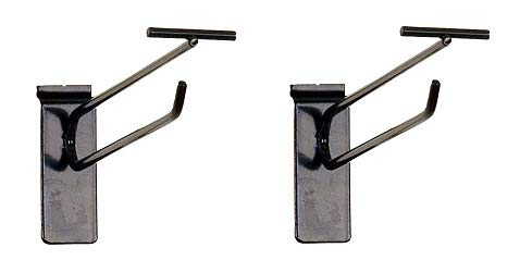 KC Store Fixtures A01808 Slatwall Scanner Hook, 8'', Black Finish (Pack of 100) (2-(Pack))