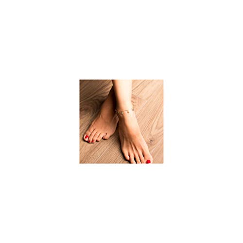 Gold Evil Eye Jewelry - Mevecco Gold Dainty Evil Eye Tassel Anklet for Women,14K Gold Plated Cute Tiny Beaded Protection Drop Boho Evil Eye Dangle Beach Foot Chain Ankle Bracelet for Teen Girls