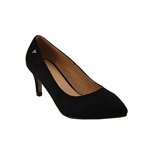 Benavente - Zapato de salón tacón bajo ante negro - Benavente NEGRO