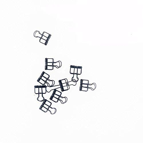 Surethingz Stationery Skeleton Binder Clips, Hollow Design Metal Folder Photo Clips for Wall Grid Photo Wall for Office Home School(10 Pieces in - Binder Clip Design