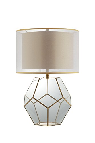 Catalina Lighting 20586 001 Kenzie Glass And Antique Gold Table Lamp