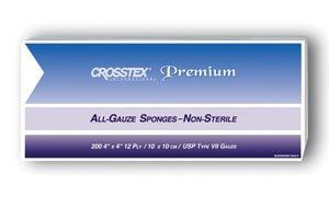 Crosstex ENC412 All-Gauze Sponges, Premium, Non-Sterile, 4'' x 4'' Size (Pack of 2000) by Crosstex (Image #1)