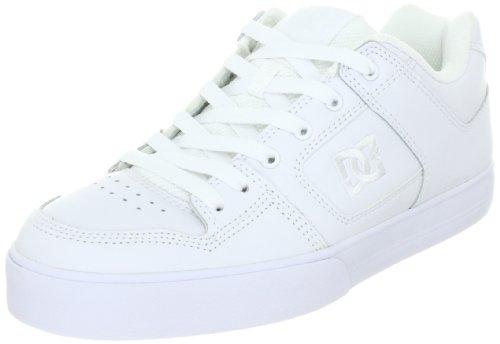 Dc Mens Pure Action Sport Sneaker Blanc / Blanc / Argent Métallique