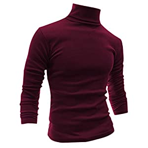 sourcingmap T-Shirt Casual Manches Longues col roulé pour Hommes