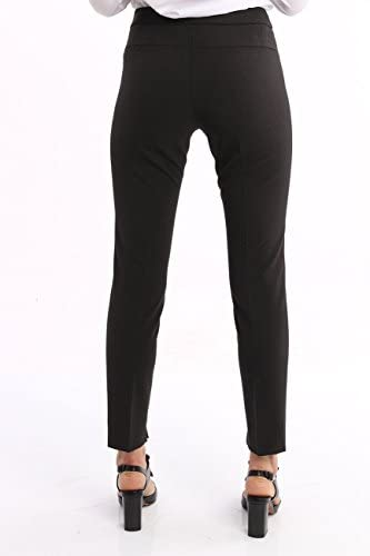 Seventy Dark Gray Trousers in Stretch Wool, Femme.