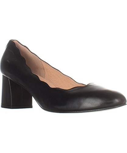 Pumps Toe Wave Black Nappa Closed Leather Classic French Sole Womens vwS0cqxxUg