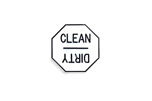 Dirty Dishwasher Magnet - Fox Run 5935 Clean or or Dirty Dishwasher Magnet, 2.5 x 2.5 x 0.25 inches, White
