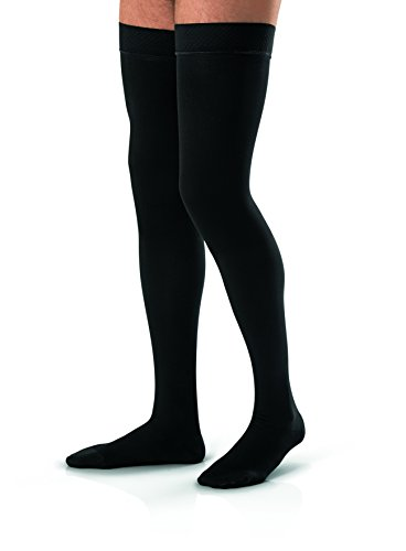 BSN Medical 115409 JOBST for Men Compression Hose, Thigh High, 20-30 mmHg, Closed Toe, Medium, Black