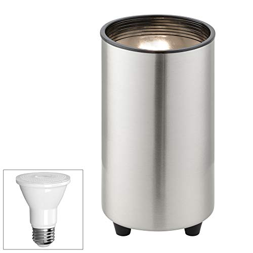 Brushed Steel 6 1/2''H PAR20 LED Mini Can Accent Spot Light by ProTrack (Image #1)