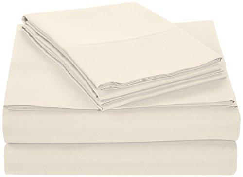 AmazonBasics Microfiber Sheet Set - King, Beige