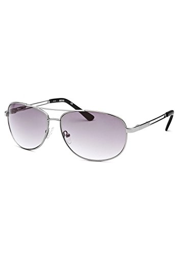 Kenneth Cole Reaction Kcr1069-O753 Men's Aviator Silver-Tone Sunglasses