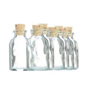 Graine Créative 10 Mini Botellas de Vidrio 6 cm con Corcho: Amazon ...
