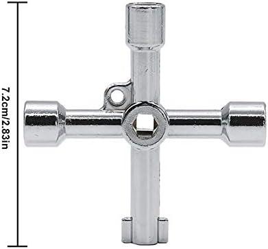 KENANLAN Universal Kreuzschlüssel, Dreiecksschlüssel Kreuz Multi für Gas/elektrische Aufzug Schrank-Meter Box