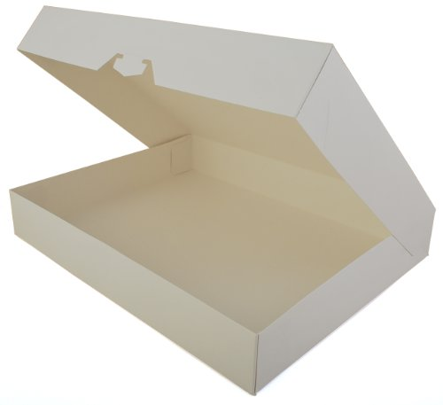 Southern Champion Tray 1239 Paperboard White Bakery Donut Box, 15'' Length x 11-1/2'' Width x 2-1/4'' Height (Case of 100) by Southern Champion Tray (Image #1)