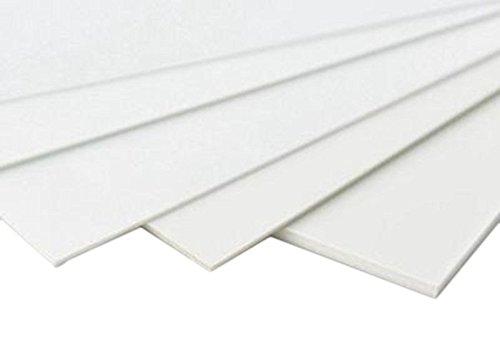 - 5pcs ABS Styrene Plastic Flat Sheet Plate 0.5mm x 200mm x 250mm White