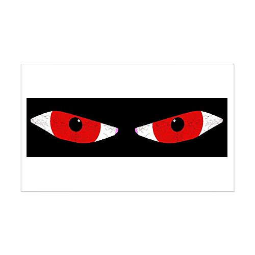 CafePress - Demon Eyes Rectangle Sticker - Rectangle Bumper Sticker Car (Science World Halloween Photos)