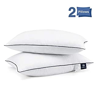 Bed Pillows for Sleeping 2 Pack, Hypoallergenic Pillow for Side and Back Sleeper, Hotel Collection Gel Pillows, Down Alternative Cooling Pillow with Soft Premium Plush Fiber Fill, Standard Size