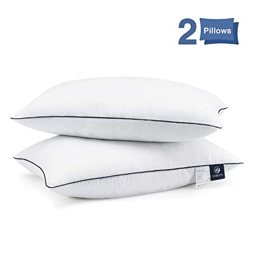 SUMITU Bed Pillows for Sleeping 2 Pack, Queen Size Hotel Quality Pillow for Side and Back Sleeper, Down Alternative Hypoallergenic Pillows, Breathable Cotton Cover, 20x 30