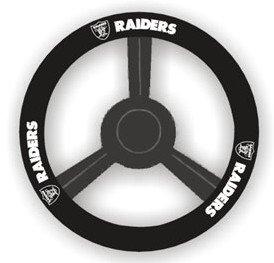 Oakland Raiders Leather Steering Wheel product image