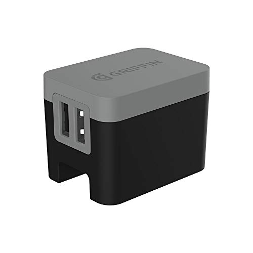 Griffin Powerblock Dual Universal Wall Charger-Black/Grey