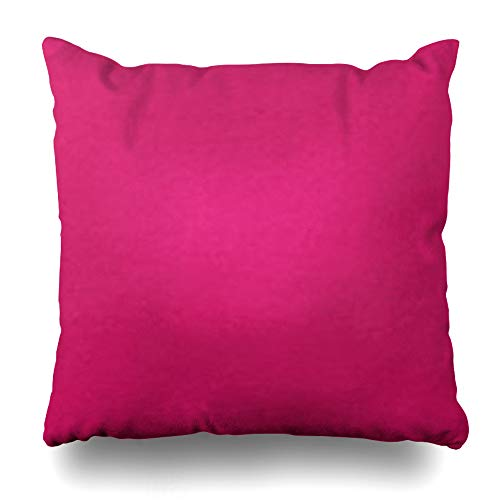 Ahawoso Throw Pillow Cover Square 17x17 Inches Fuschia Decorative Pillow Case Home Decor Pillowcase (Fuschia Cases Pillow)