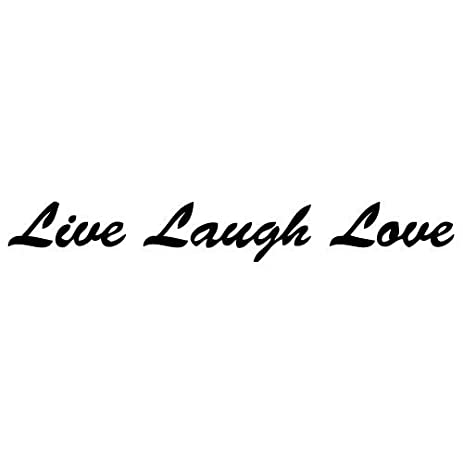 Amazon Com Red Color Decalgeek Live Laugh Love Quotes Sayings Words