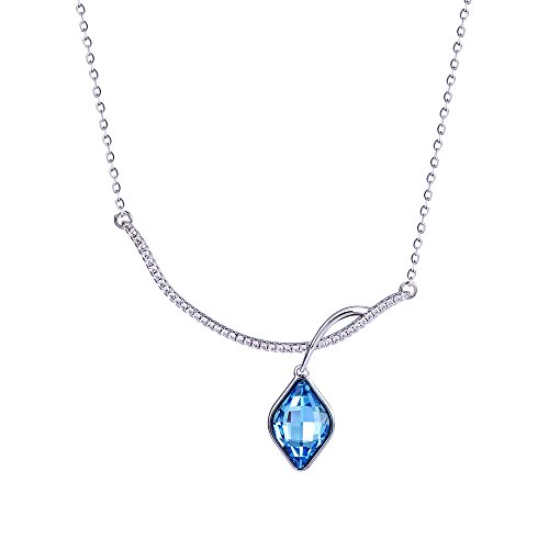Xuping Luxury Pendant Necklace with Box Crystals from Swarovski Jewelry Women Party Halloween Day (Aquamarine)