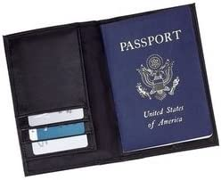 New Embassy Genuine Leather Wallet Durable Man-Made Interior Space For Passport Credit Cards License