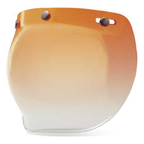 Bell 3-Snap Bubble Shield, Amber Gradient
