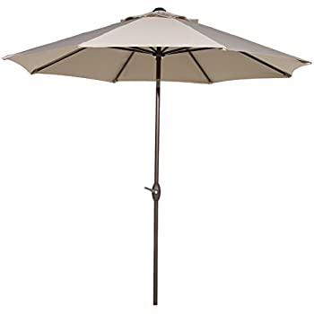 Exceptional Abba Patio Sunbrella Patio Umbrella 9 Feet Outdoor Market Table Umbrella  With Auto Tilt And Crank