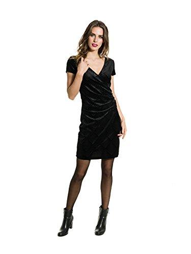 Smash A1783432, Vestido Básico para Mujer Negro (Black)