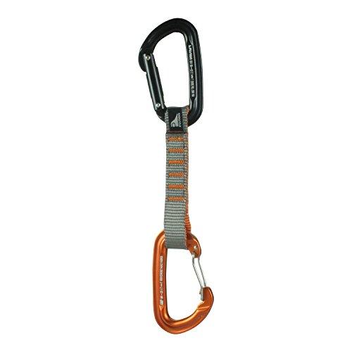 Fusion Climb 11cm Quickdraw with Contigua Orange Wire Gate Carabiner/Contigue Black Straight Gate Carabiner by Fusion Climb