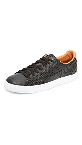 PUMA Select Men's Clyde Colorblock Leather Sneakers, Black, 9.5 D(M) US