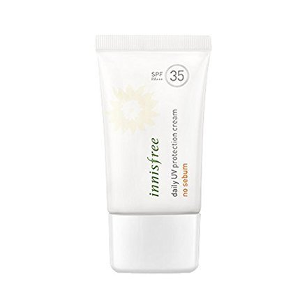 Innisfree Daily Uv Protection Cream No Sebum SPF35 PA+++ 50ml (Waterproof Sun Cream Protection)