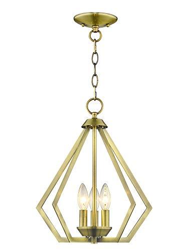 (Livex Lighting 40923-01 Prism 3 Light AB Mini Chandelier/Ceiling Mount Antique Brass)