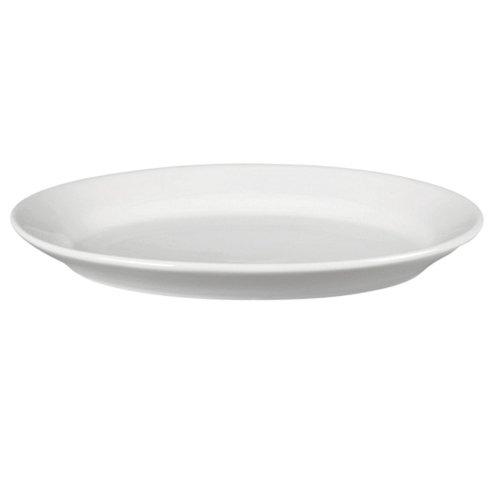 White Porcelain Deep Oval Serving Platter (Large Oval Serving Tray)