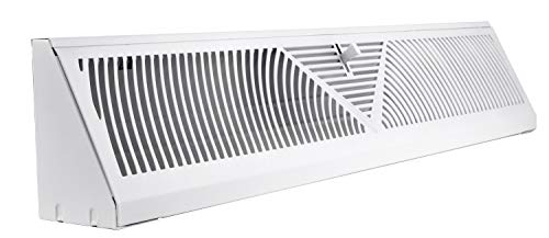 (Accord ABBBWH24 Baseboard Register with Sunburst Design, 24-Inch(Duct Opening Measurement), White)