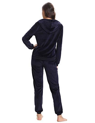 Abbigliamento Sportiva Ginnastica Da Pigiama Set Pezzi Tuta Notte Sportivo Completi Abollria Sportivi Blu Due Primaverile Donna qUHwWTSvE