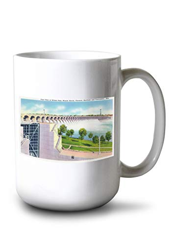 (Alabama - Eastern View of The Wilson Dam (15oz White Ceramic Mug))