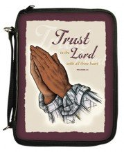 Books : Praying Hands Bible Cover
