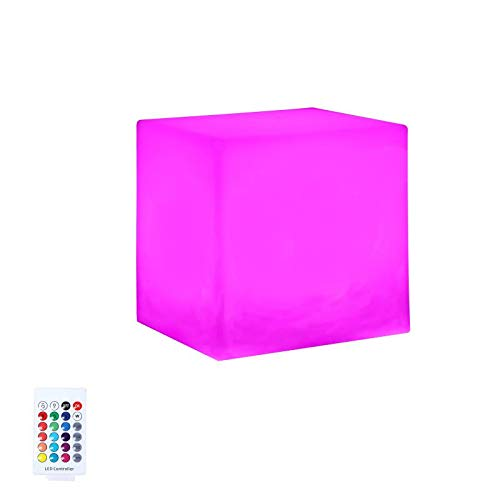 USINDA LED Cube Light, 4-inch Night Light, RGB Color Changing Light Cube, Decorative Mood Light, Rechargeable and Cordless Light with Remote Control