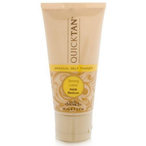 Body Drench Moisturizing Tanning Lotion - Body Drench Quick Tan Gradual Tanning Lotion, Face Medium, 2 Ounce