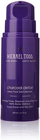 Michael Todd Charcoal Detox Deep Pore Gel Cleanser, Formulated with Highly Absorbent Activated Charcoal, Tea Tree and Botanical Extracts, 6.7 Ounce