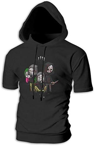 Tシャツ シャツ ティーシャツ スウェットシャツ パーカー ストレッチ メンズ 半袖 フード付き デッド バイ デイライト スポーツtシャツ 吸汗速乾 トレーニング ジムtシャツ 通気性 黒