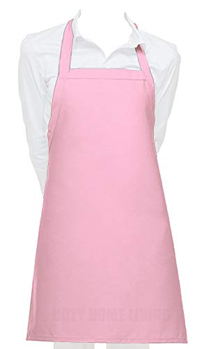 Cozy Home Living Vinyl Waterproof Apron Ultra Lightweight (1, Pink)