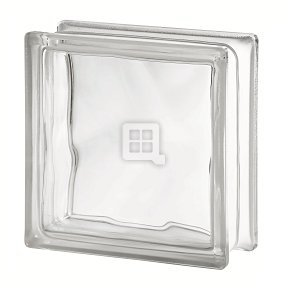 - Quality Glass Block 7.5 x 7.5 x 3 Basic Wave Glass Block