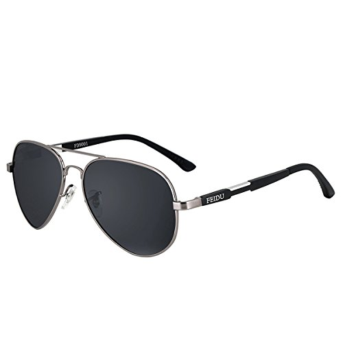 FEIDU Men Aviator Sunglasses Pilot Alloy Polarized Classic Sun Glasses Driving Sport With Case FD9001 - For Sun Sale Glasses