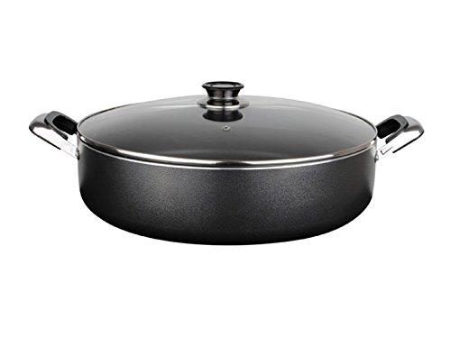 Low-Stock-Pot-11-Heavy-Gauge-Non-stick-w-Glass-Lid-Rice-Cooker-Casserole-5-Quarts