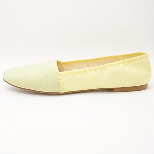 Jonnys - Bailarinas de tela para mujer amarillo amarillo