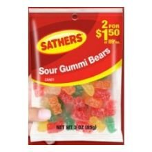 Farley's & Sathers Candy, Sour Gummy Bears, 3 Ounce, Pack of 12